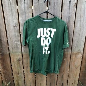 Nike Just Do it Mens Green Shirt